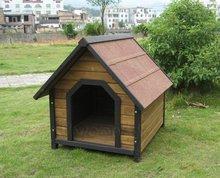 Wooden Dog House,Solid Wood,Waterproof,Adjustable Feet