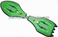 2 wheels Waveboard in PP or ABS Material with CE