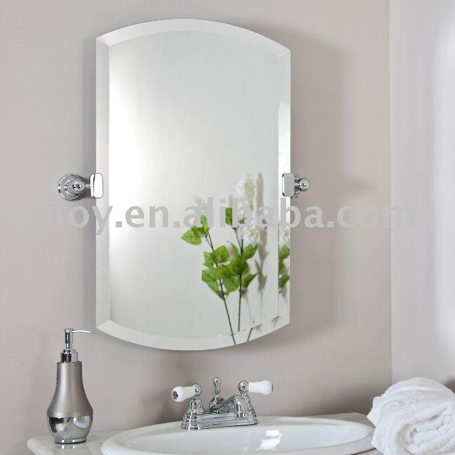 Biselado cuarto de ba o espejo de plata cristal espejos - Espejos biselados para banos ...