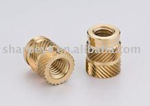 Hot sale Threaded Knurled Brass Insert Nut for plastics