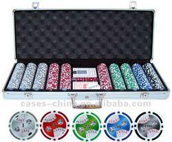 Round corners 500piece aluminum poker chip case