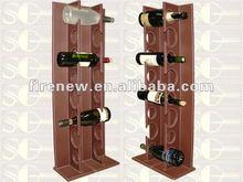 Leather wine bottle holder