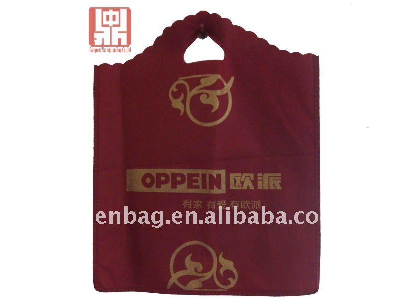 Cadeau de la porte de mariage toile fourre - tout bambou / bois poignée recycler fourre - tout non tissé sac