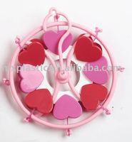 Plastic mini/small heart shape acrylic Clip hanger
