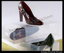 clear plastic woman shoe box
