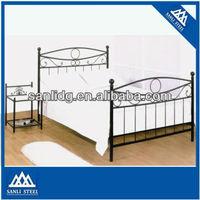2013 Bedroom furniture, hot sale bed design, metal double bed