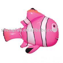 Inflatable baby pool floating goldfish