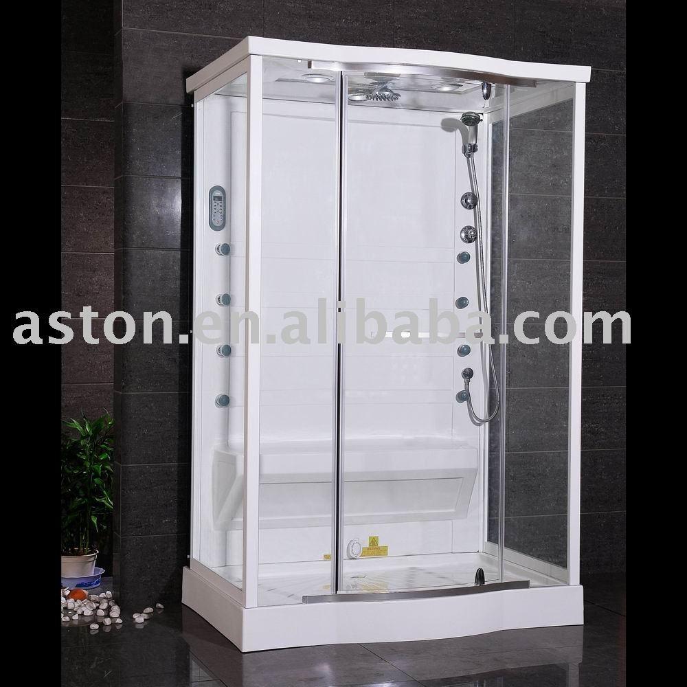 Moderna de vidrio templado de interior sencilla de vapor - Cabina ducha sauna ...