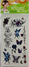 bady paint butterfly tatoo/body art