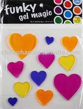 jelly decor/ gel gems/ heart gel sticker