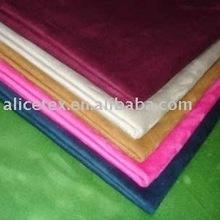 Colorido poliéster camurça sintética tecido para vestuário