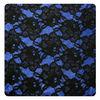 black lace blue glittler white knt bonded fabric lace for garment FH-DK0014