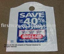 Wave Top supermarket plastic carrier bag