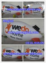 White inflatable helium blimp/ hydrogen balloon
