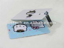 Promotional gift card shape usb flash drive /usb modem sim card 16gb