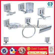 Fashion Bathroom Accessories 2012 Crystal Bathroom Accessories Set,Zinc Material,Chrome Plated,6PCS/SET