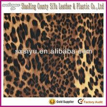leopard pvc ponge leather for window