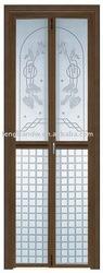 Hanging aluminum two panels folding door
