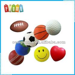 Promotioal printed pu stress ball, cheap pu foam stress ball