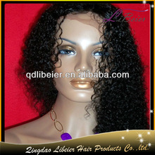 Hot sale grade aaaaa human hair water curly color #1 22inch natural hair wigs for black women