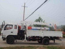Dongfeng FRK telescopic boom truck mounted crane for sale