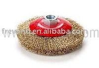 crimped wire bevel brush,used with grinders,angle grinders and stationary machines