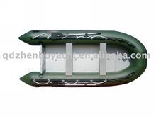 2013 CE 4.2m navy green sport boat