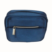 2014 new design satin mens travel cosmetic bag with compartments