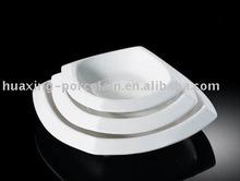 """H4489 8 """" 10 """" 12.5 """" porcelana quadrado branco em forma de bacia quadrada"""