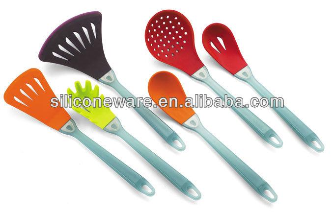 Como mango de silicona utensilios de cocina colorido de - Utensilios de cocina de silicona ...