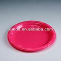 colorido redonda placa de plástico descartáveis