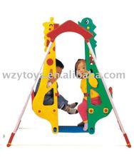 Plastic Indoor Giraffe Double Baby Swing