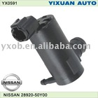 nissan car wash water pump, 12V windscreen washer 12 volt car washer water pump