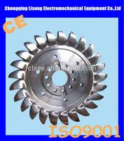 pelton turbine generator / water turbine / stainless steel runner