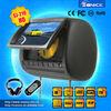 China factory 9 inch car headrest dvd support wireless headphone
