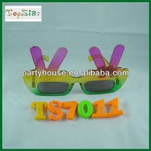 Plastic Fashion Tree Design Finger Funny sunglasses
