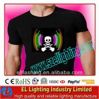 Voice activated EL Equalizer T-Shirt, EL clothes Panel t-shirt