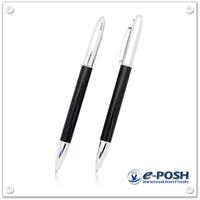 Metal slim carbon fiber ball point pen
