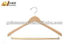 Wooden Suit Hanger with bar / wooden cloth hanger/ coat hanger bar