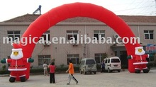 2015 christmas inflatable arch decoration/ advertising santa claus arch