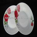 Ly-s piatti di porcellana personalizzati/porcellane antiche cinesi piatti/misura piatto di porcellana/linyi fornitore di ceramica