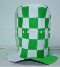 Moda verde velour cartola para st patrick dia, verde a irlanda festival