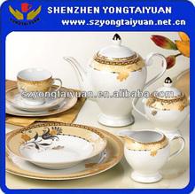 42pcs porcelain round tea set