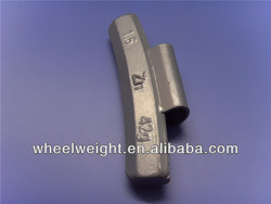 auto zn(zinc) clip on wheel balance weights for alloy rims