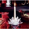 belo lótus de cristal castiçais de presentes de casamento