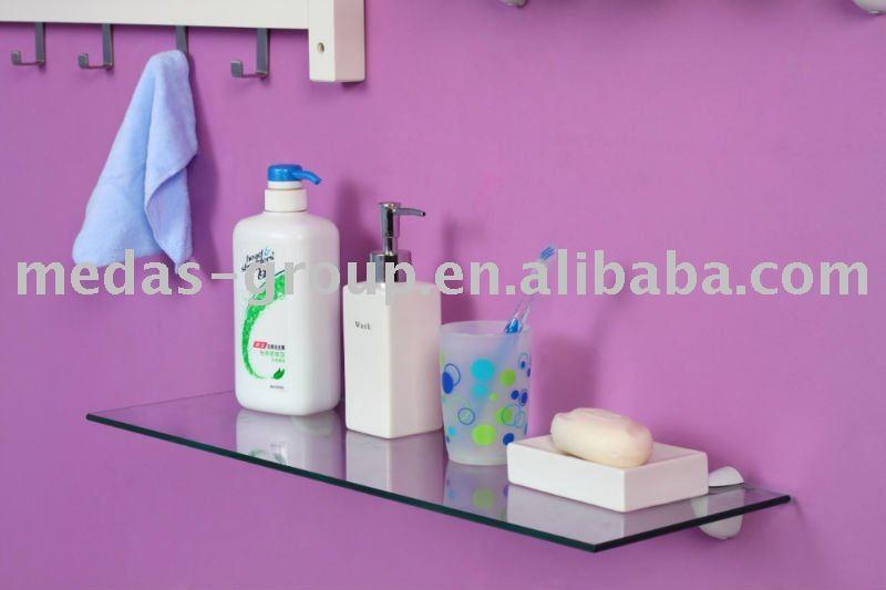 Estantes Para Baño Vidrio:Montaje en pared de baño estante de vidrio-Estanterías de Baño
