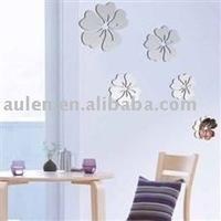 flower shape acrylic wall mirror stickers