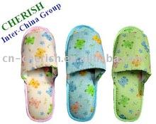 winter indoor lady slippers&cute animal pattern&open toe