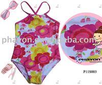 2014 fasion children swimwear, hot girls sexy bathing suit swimwear