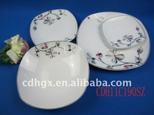 20pcs british square dinner set,porcelain fine royal ceramic dish